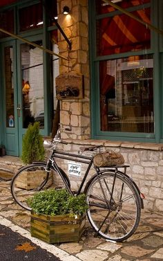 cafe Antika and bike.. Dimitsana, Arcadia, Greece | Flickr - Thalia Nouarou Photography