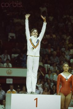 Nadia Comaneci makes history with her perfect 10 performance in Montreal.