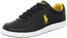 half off d9a93 e31bf Polo Ralph Lauren Men s Hernando Sneaker Color  Black Yellow