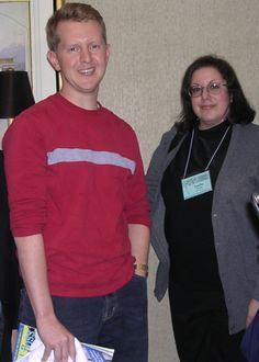 Leslie Billig, editor of the Crosswords Club,  next to trivia pro Ken Jennings (http://blog.puzzlenation.com/2014/05/22/5-questions-with-puzzler-leslie-billig/)