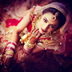 "Indian Wedding (@indian__wedding) on Instagram: ""Bridal portrait by @theweddingstoryindia  #weddings #indianbride #indianwedding #weddingidea…"""
