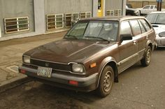 Number 10.  Brown 1981 Honda Civic Wagon.  This one was not ours, but it looks almost exactly the same.  I think we bought it for $1400, had it for four years and sold it for $1000.  The car cost us $100 a year.
