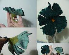 fleur laine feutree odile bailleul - Recherche Google