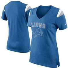 Nike Detroit Lions Ladies Fan V-Neck T-Shirt – Light Blue