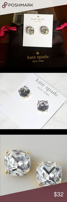 NWT kate spade gumdrop studs Brand spankin' new! Great with almost any outfit! kate spade Jewelry Earrings