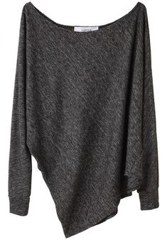simple grey sweater. Could wear with a white cami underneath and a pair of snug blue jeans. And comfy socks! Always. comfy. socks.: