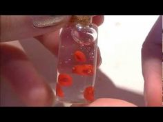 Diy blood cells in a bottle necklace or holloween decor