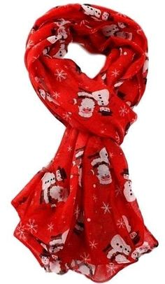 Red Robin Scarf Birds Wrap Ladies Red Robins Bird Secret Santa Christmas Xmas