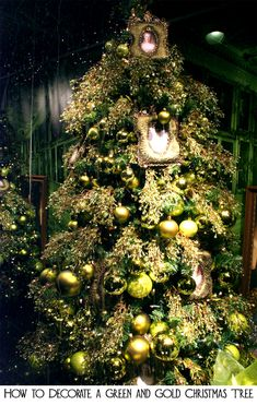 1000 ideas about gold christmas tree on pinterest gold for Green and gold christmas tree