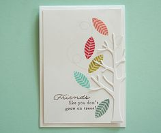 Friends Like You Card by Danielle Flanders for Papertrey Ink (September 2013)