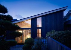 Charred timber clads Okazaki House in Japan by MDS
