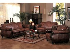 Marvelous Home U203a Furniture U203a Fabulous Brown Leather Couch Living Room Sweeten Your  House U203a Round Glass Top Table With Dark Brown Wooden Table On The Maroon  Rug Feat .