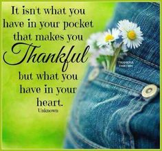 filled with gratitude ...