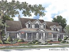 Country House Plan with 1965 Square Feet and 4 Bedrooms(s) from Dream Home Source | House Plan Code DHSW52749