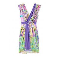 Tibi colour wash wrap dress