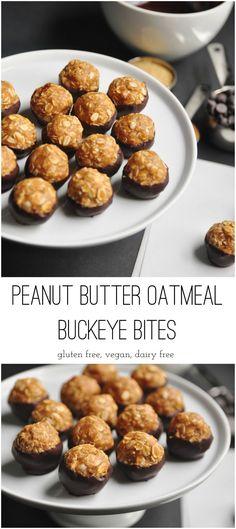 Peanut Butter Oatmeal Buckeye Bites