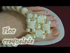 Como Cortar e Costurar tira de chinelo Customizado de Flor de Pérolas - Maguida Silva - YouTube