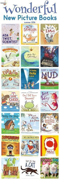 children Pictures Libraries - So Many Wonderful New Picture Books, Summer 2016 Library Books, New Books, Good Books, Books To Read, Library Ideas, Kids Reading, Teaching Reading, Reading Lists, Learning