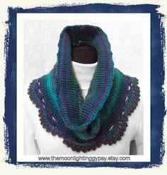 Hand Crocheted Cowl, Shoulder Shawl in super soft, 100% Acrylic Yarn - Fancy Crochet Shell Stitch Edge Treatment    Love this acrylic yarn