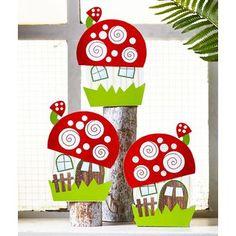 Sachenmacher prickel-pilzhaus online bestellen - jako-o mushroom crafts, spring crafts, 3d Paper Crafts, Diy And Crafts, Crafts For Kids, Arts And Crafts, Autumn Crafts, Nature Crafts, Spring Crafts, Painting For Kids, Art For Kids