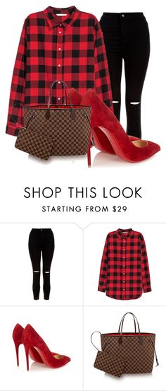 """""""Sans titre #52"""" by minii92 on Polyvore featuring mode, New Look, H&M et Christian Louboutin"""