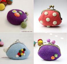 Felted bag pattern felted purse pattern wool от NapkittenPattern