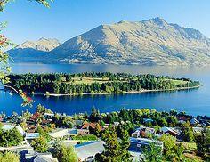 Queenstown, NZ. Just went here. Absolutely breathtaking views.