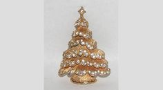 Weiss signed Petite Snowy Christmas Tree Pin, RARE Book Piece by VintageUndertheSea on Etsy