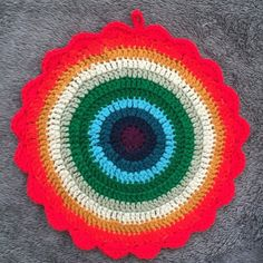 Anonymous Rainbow Crochet Mandala + Natural Depression Treatment