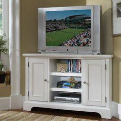 Need to refinish my tv stand...white looks nice!