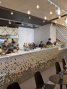 Arctic Bar in Helsinki Airport | City Lighting Products | www.facebook.com/CityLightingProducts