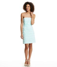 And they're off! Our strapless women's dress has the Kentucky Derby written all over it. Literally.