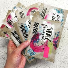 DIY postcard swap cards made by Tanyalee Kahler for @ihanna's swap spring 2016 She is @drawingboardau at Instagram #diypostcardswap #focused