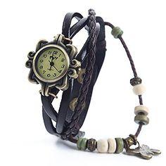 DAYAN Butterfly Charm Women Ladies Weave Wrap Around Leather Belt Bracelet Watch Brown, http://www.amazon.com/dp/B00MNZUJ1A/ref=cm_sw_r_pi_awdm_iGCNub1RSKF9G