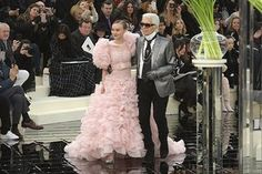 Paris, France Lily-Rose Depp and Karl Lagerfeld
