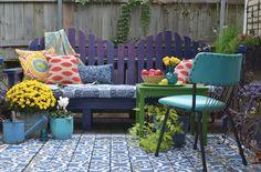 La Maison Boheme: Styling Selena's Painted Porch