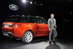 The British actor Daniel Craig previewing the 2013 Range Rover Sport.