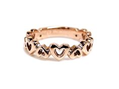 AMBRACE K18 pink gold ring heart design レディース リング 指輪 ハート デザイン ピンキーリング ピンクゴールド