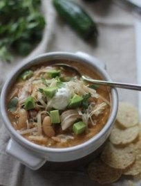 With only 8 ingredients, this Slow-cooker White Chicken Chili is loaded with flavor and all comes easily together in the crock pot.