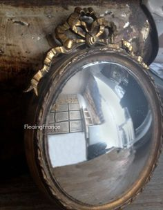 FleaingFrance.....Vintage Convex Mirror