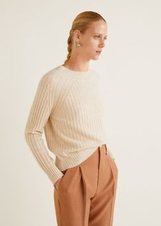 Pull-over 100 % cachemire Wool Sweaters, Cashmere Sweaters, Cashmere Fabric, Mango Fashion, Cardigans For Women, Pulls, Lana, Fashion Online, Knitwear