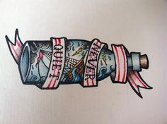 Traditional bottle tattoo