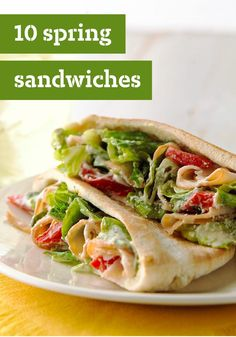 10 Spring Sandwiches – Celebrate the season with one of these Spring sandwiches that are sure to please.