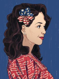 """ericamchan: """" """"""""You're a woman wearing a political statement in her hair."""" """" I watched Allegiance on Broadway last month and it was amazing! I finally got around to drawing something for it…Sad to. Paper Background, Textured Background, Allegiant, Draw Something, Cute Hairstyles, Her Hair, Broadway, Women Wear, Illustrations"""