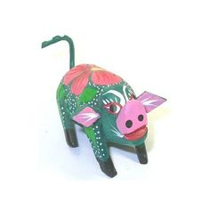 Pig Miniature Oaxacan Wood Carving Home