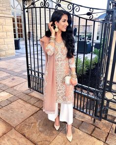 Image may contain: 1 person, standing Pakistani Wedding Outfits, Pakistani Dresses, Indian Dresses, Indian Outfits, Pakistani Bridal, Indian Attire, Indian Wear, Saris, Ourfit