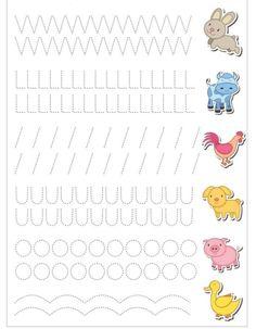 Schwungübungen - Everything About Kindergarten Kids Math Worksheets, Tracing Worksheets, Preschool Printables, Preschool Activities, Kindergarten Writing, Preschool Learning, Pre Writing, Writing Skills, Improve Your Handwriting
