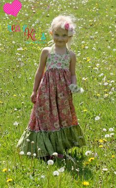 Peony's Sweetheart Maxi Dress Pattern Anthony Anthony Anthony Mestel Mestel Demers in Wonderland Pullmann Sewing Kids Clothes, Sewing For Kids, Diy Clothes, Little Girl Dresses, Girls Dresses, Flower Girl Dresses, Summer Dresses, Dress Patterns, Sewing Patterns