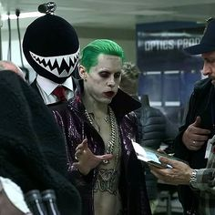 Jared Leto as the Joker behind the scenes of Suicide Squad!