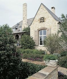 There are few things finer than French architecture. French country exterior design homes are a perfect marriage of traditional values and innovation. Style At Home, French Style Homes, Country Style Homes, French Country Style, French Country Decorating, French Country House Plans, French Country Exterior, Country Home Exteriors, Stone Home Exteriors